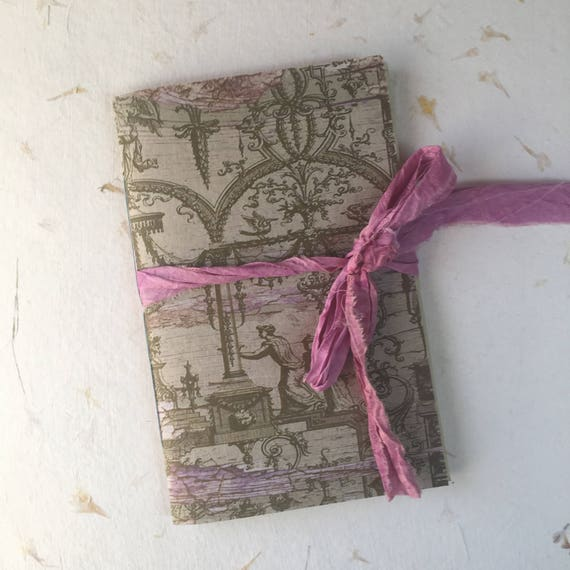 Grungy, Junk Journal, Blue and Pink, Travel Journal, Notebook, Paperback, Writing Journal, Gifts for Writers, Tea Stained Paper, Notebook