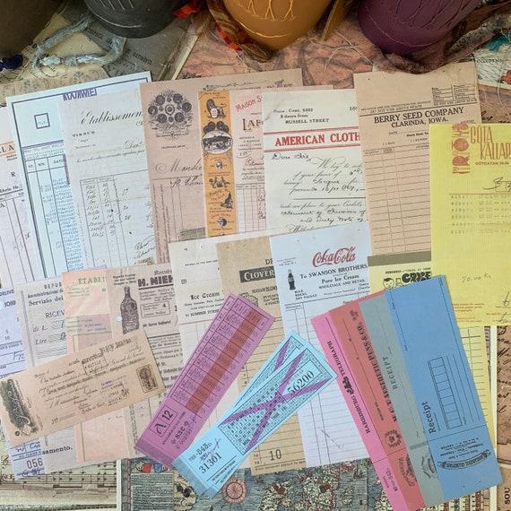 Bullet Journaling Kit, Vintage Ephemera Set, Stationery Set, Junk Journal Kit, Travel Journal, Apothecary & Ads, Receipts, V8