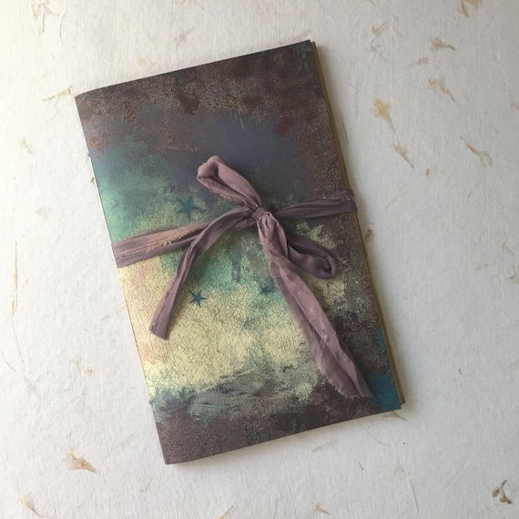 Pastel Purple Cloud, Junk Journal, Paperback, Writing Journal, Travel Journal, Notebook, Diary, Gifts for Writers, Tea Stained Paper