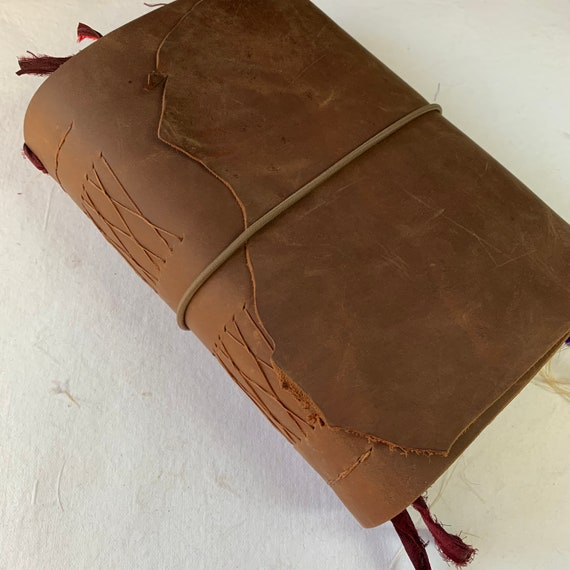 Handmade Leather Junk Journal, Red-Brown Unique Journal, Artist Journal, Travel Journal, Scrapbook, Zodiac, Galaxy, Vintage Inspired