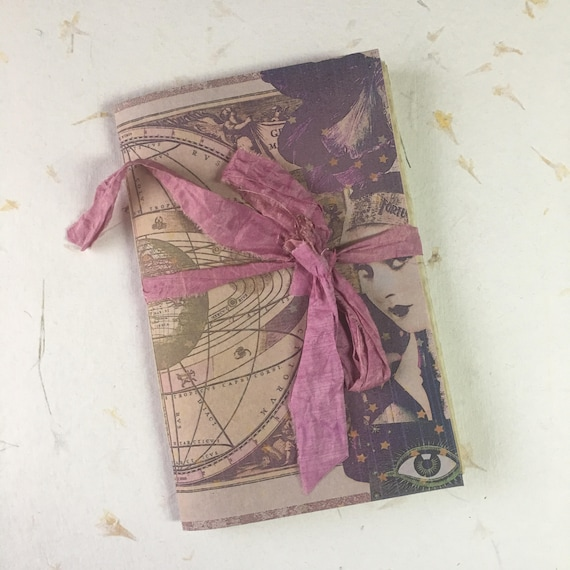 Junk Journal, Paperback, Tarot Journal, Witchy, Writing Journal, Travel Journal, Notebook, Gifts for Writers, Tea Stained Paper, Notebook