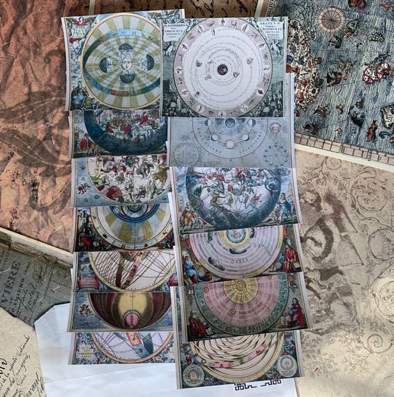 The Celestial Atlas Ephemera Set, Book of Shadows, Astronomy, Astrology, Bullet Journaling, Vintage Ephemera, Stationery Set, Junk Journal