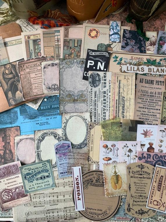 Bullet Journaling Kit, Vintage Ephemera Set, Stationery Set, Junk Journal Kit, Travel Journal, Apothecary & Ads, Receipts, V3