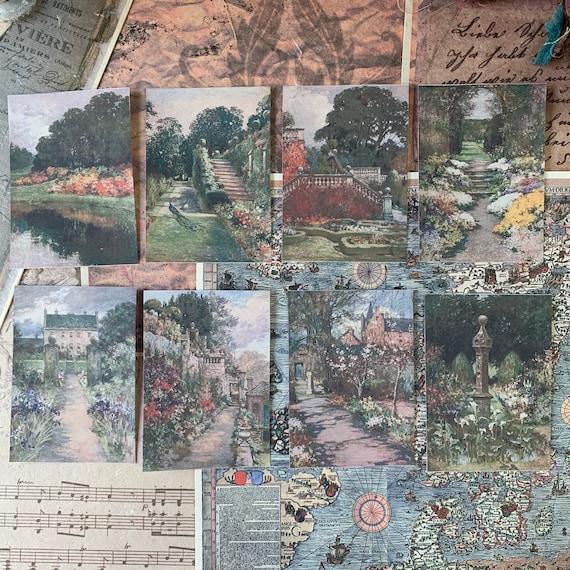 Painterly Garden Stickers 2, Ephemera Set, Stationery Set, Junk Journal Kit, Travel Journal, Sticker Set, Vintage Style, Scrapbook
