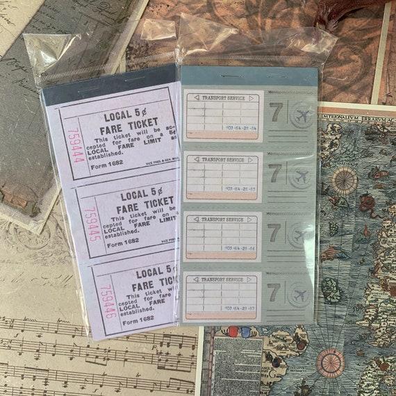 Vintage Travel Tickets Paper Set, Junk Journal Kit, Ephemera Set, Stationery, Travel Journal, Vintage Style, Scrapbook Paper, Bullet Journal