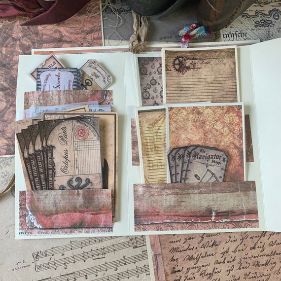 Steampunk Stationery Pack V1, Note Paper, Scrapbook Paper, Ephemera, Stationery Set, Bullet Journal Kit, Junk Journal Kit, Vintage