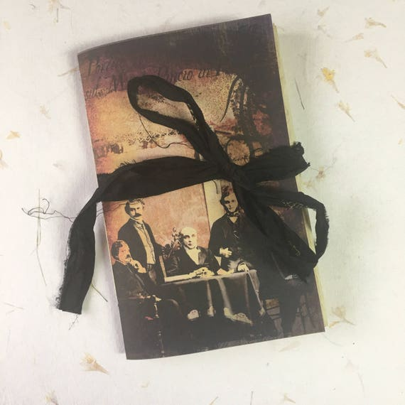 Junk Journal, Paperback, Writing Journal, Travel Journal, Notebook, Haunted, Ghost, Gifts for Writers, Tea Stained Paper, Notebook