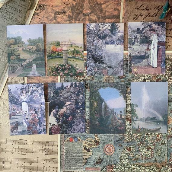 Painterly Garden Stickers 3, Ephemera Set, Stationery Set, Junk Journal Kit, Travel Journal, Sticker Set, Vintage Style, Scrapbook