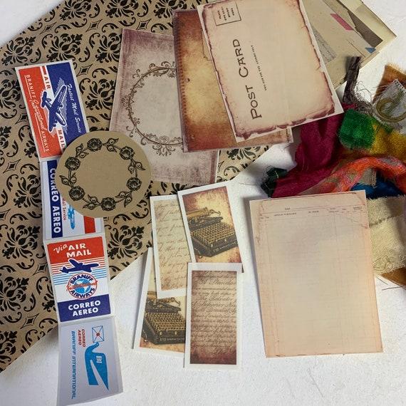 Journaling Kit, Ephemera Set, Stationery Set, Stickers and Writing Papers, Junk Journal Kit, Travel Journal, Office and Writing