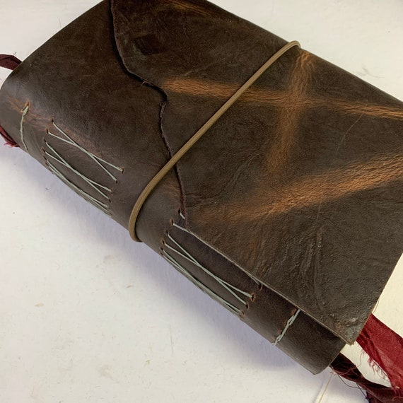 Leather Junk Journal, Dark Brown, Handmade, Bullet Journal, Artist Journal, Travel Journal, Book of Shadows, Scrapbook, Unique Journal