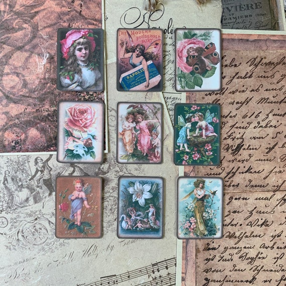 Flower Fairy Stickers, Ephemera Set, Stationery Set, Flowers, Junk Journal Kit, Travel Journal, Sticker Set, Vintage Style, Scrapbook