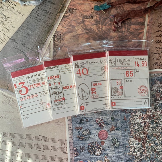 Travel Tickets Paper, Notepad, Junk Journal, Ephemera Set, Stationery, Travel Journal, Vintage Style, Scrapbook Paper, Bullet Journal