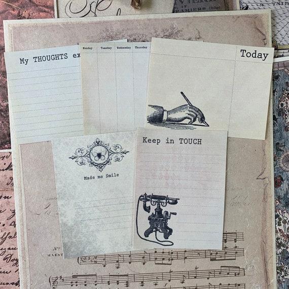 Journaling Cards, Ephemera Set, Message Cards, Stationery Set, Junk Journal Kit, Travel Journal, Bullet Journal, V2
