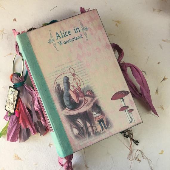 Alice In Wonderland, Junk Journal, Wedding, Prayer Journal, Unique Journal, Guest Book, Art Journal, Scrapbook, Book of Shadows, 2 sizes