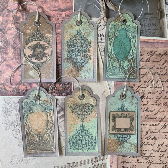 Baroque Tags, Ephemera Set, Gift Tags, Stationery Set, Junk Journal Kit, Travel Journal, Scrapbook Embellishments, Frames, Filigree