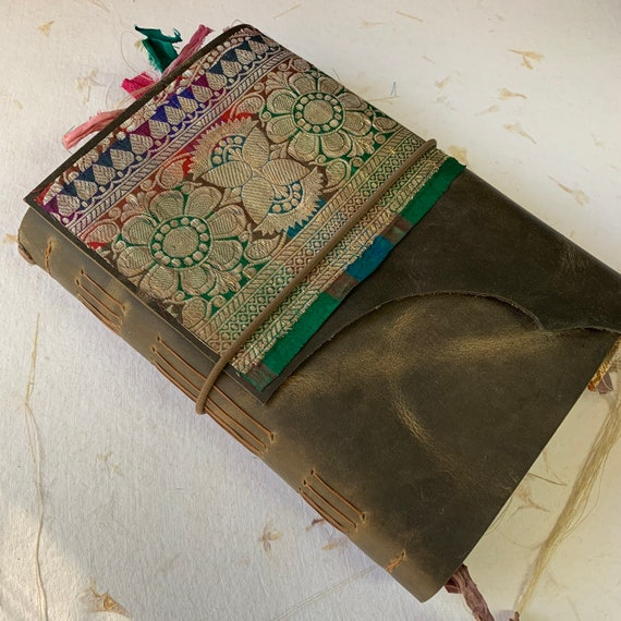 Leather Junk Journal, Dark Brown, Handmade, Unique Journal, Artist Journal, Travel Journal, Book of Shadows, Scrapbook, Bullet Journal