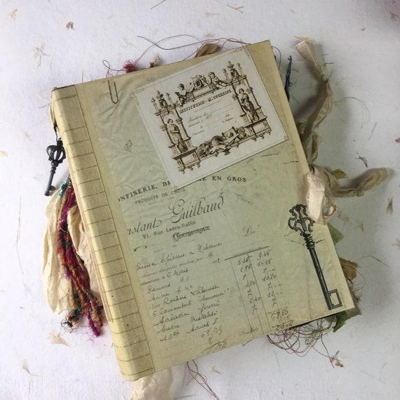 Handmade Junk Journal, Office Paper, Wedding, Photo Album, Unique Journal, Guest Book, Ledger, Art Journal, Vintage Style, Scrapbook