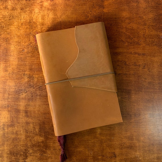 Bullet Journal, Leather Notebook, Leather Journal with Dot Grid Paper, Fountain Pen Friendly Writing Journal, Travel Journal, Unique Journal