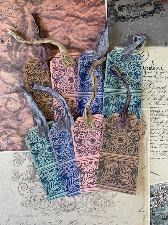 Florentine Tags, Ephemera Set, Gift Tags, Stationery Set, Junk Journal Kit, Travel Journal, Scrapbook Embellishments