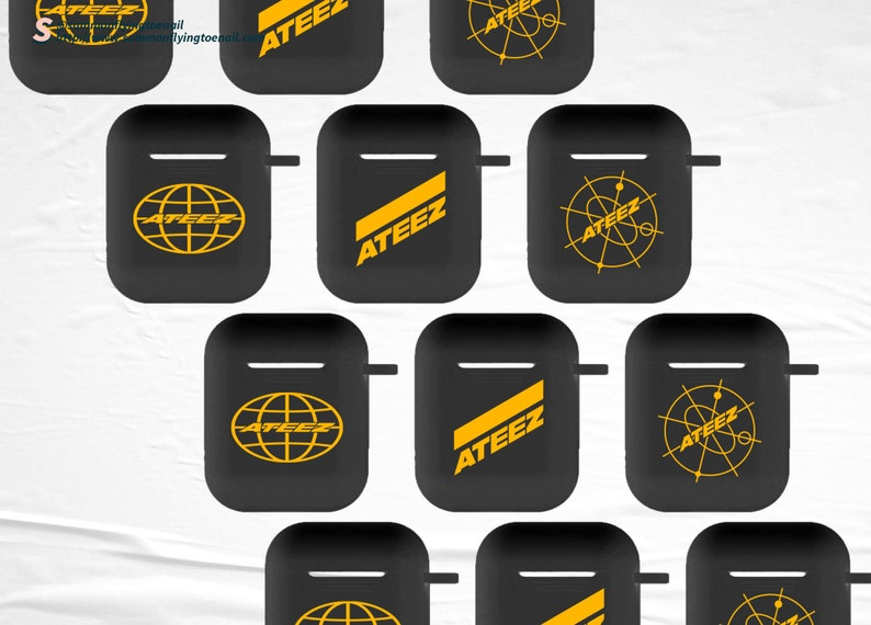 ATEEZ Logo Kpop AirPods 1 AirPods 2 Case image 0