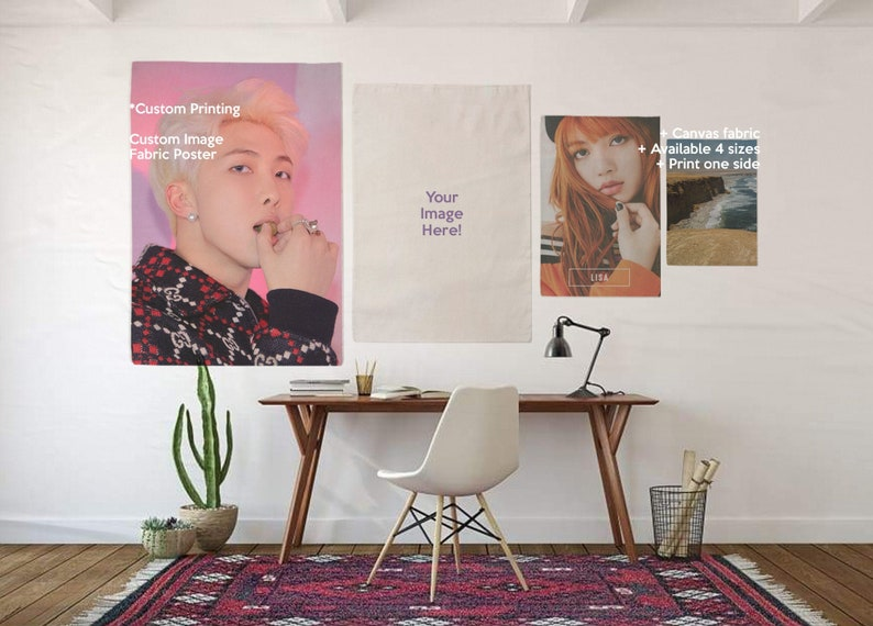 CREATE YOUR OWN Custom Decoration Fabric Poster Printing image 0