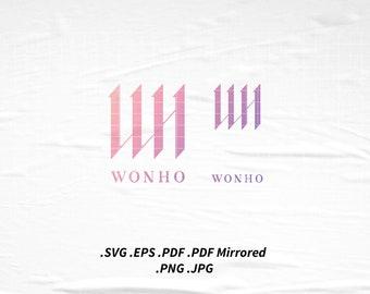 Wonho Logo Fanart SVG Png Eps Pdf Vector Cutting File for Cricut Cameo Silhouette