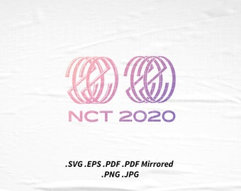 NCT 2020 Logo SVG Png Eps Pdf Vector Cutting File for Cricut Cameo Silhouette