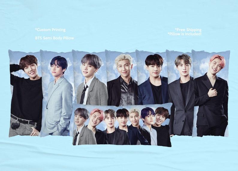 BTS/Bangtan Boys 15x30 inches Semi Body Pillow Pillow is image 0