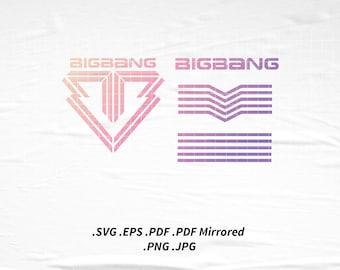 BIGBANG Logo SVG Png Eps Pdf Vector Cutting File for Cricut Cameo Silhouette