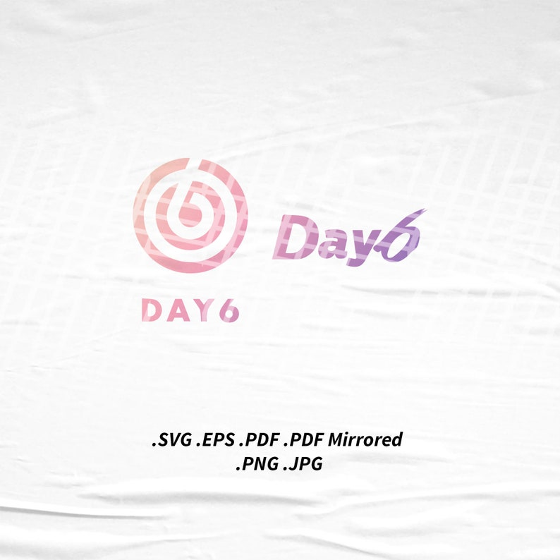 Day6 Logo SVG Png Eps Pdf Vector Cutting File for Cricut Cameo image 0
