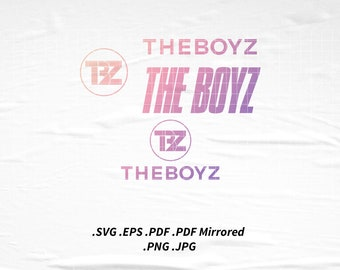 THE BOYZ Kpop Logo SVG Png Eps Pdf Vector Cutting File for Cricut Cameo Silhouette