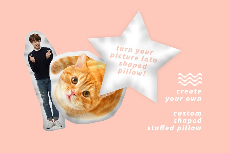 CREATE YOUR OWN Shaped Stuffed Pillow / Doll image 0