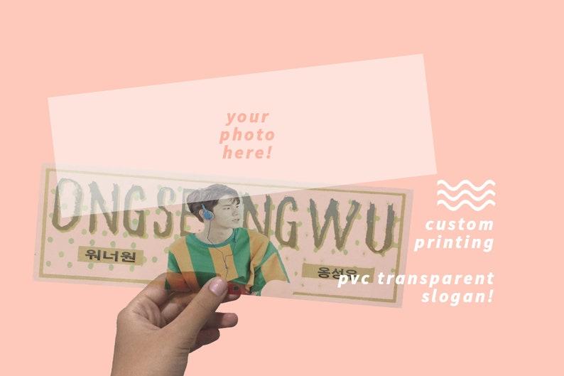 CREATE YOUR OWN Transparent Pvc Slogan image 0