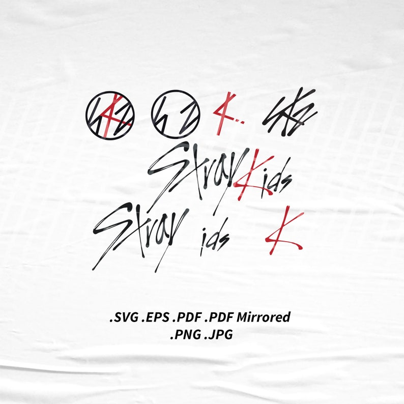 Stray Kids Logo SVG Png Eps Pdf Vector Cutting File for Cricut image 0