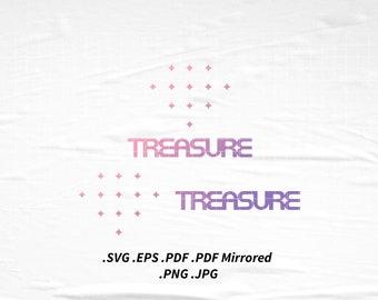 TREASURE Logo SVG Png Eps Pdf Vector Cutting File for Cricut Cameo Silhouette