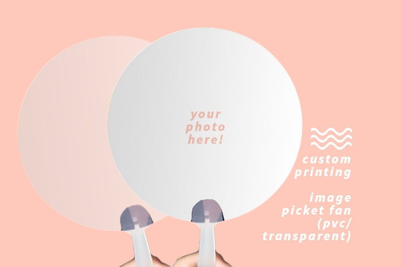 CREATE YOUR OWN Image Picket Hand Fan image 0