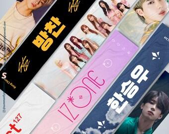 85x20cm Custom Kpop Cheering Fabric Slogan (Print Version)
