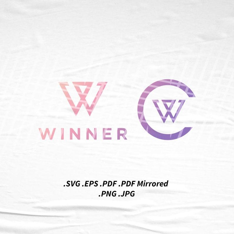 Winner x Inner Circle Logo SVG Png Eps Pdf Vector Cutting File image 0