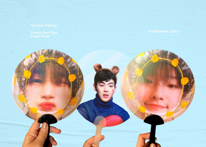 CREATE YOUR OWN Custom Image Picket Hand Fan image 0