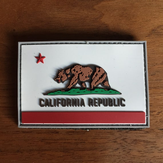 California Flag PVC Patch  b3eb442778e0