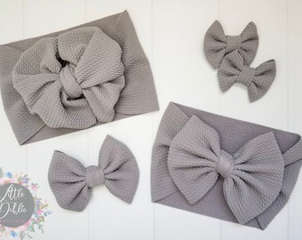 baby bow Grayscale gray floral