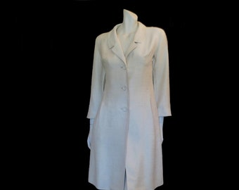 00b63f8169f Magnolia Silk Shantung Evening Coat - 1960s - Bust 94 cm
