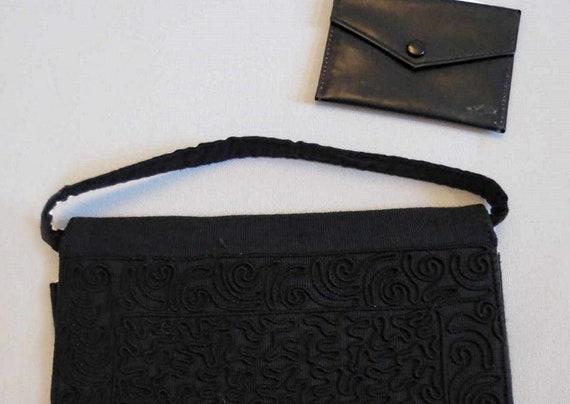 1940s Soutache Grosgrain Evening Bag or Purse