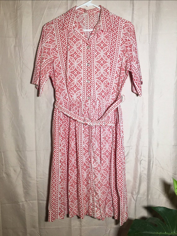 Short Sleeved Vintage Shirtdress