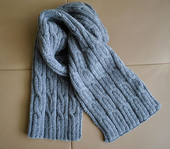 PDF KNITTING PATTERN Men\'s Scarf \