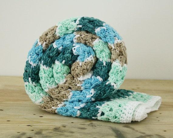 Häkeln Sie Decke Häkeln Sie blau Babydecke Baby junge | Etsy