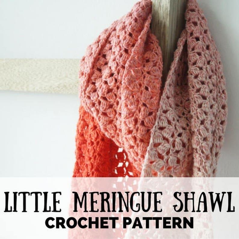 Crochet pattern shawl Scheepjes Whirl The Little Meringue image 0