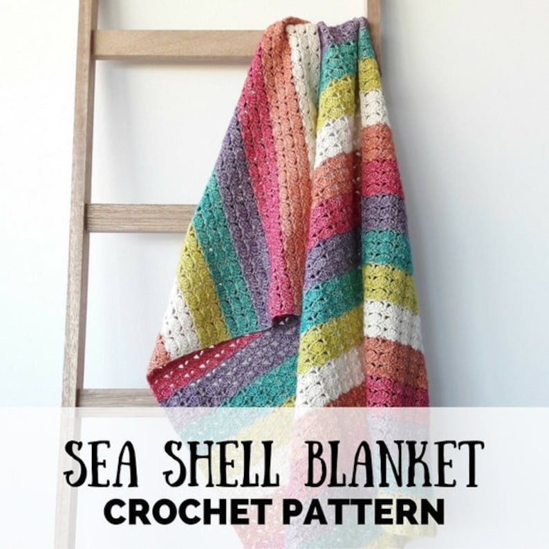 Crochet blanket: Sea Shell Blanket crochet pattern Crochet image 0