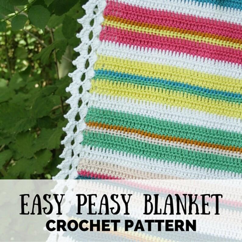 Crochet blanket for beginners easy crochet blanket pattern image 0