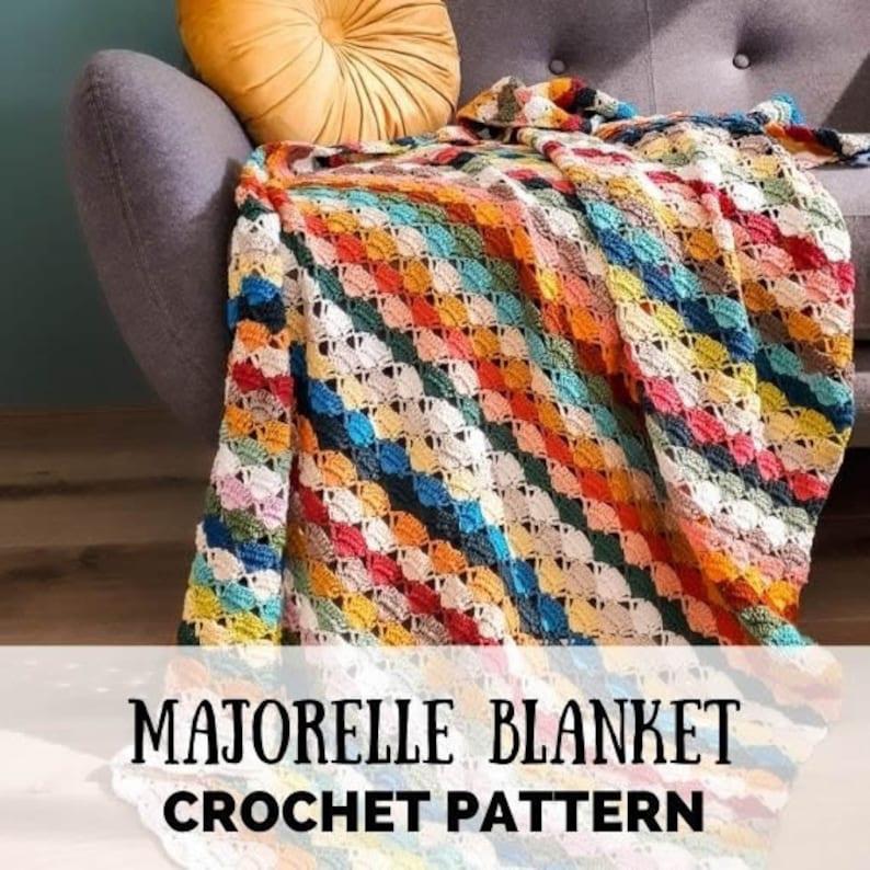 Crochet scarp blanket scrap blanket pattern scrap yarn image 1